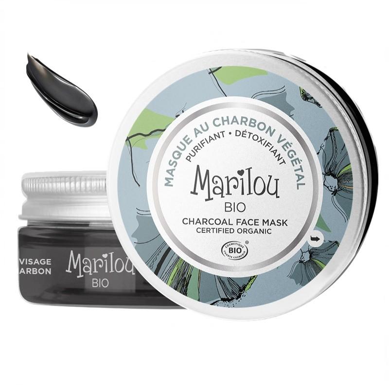 Μάσκα προσώπου με φυτικό άνθρακα Marilou Bio