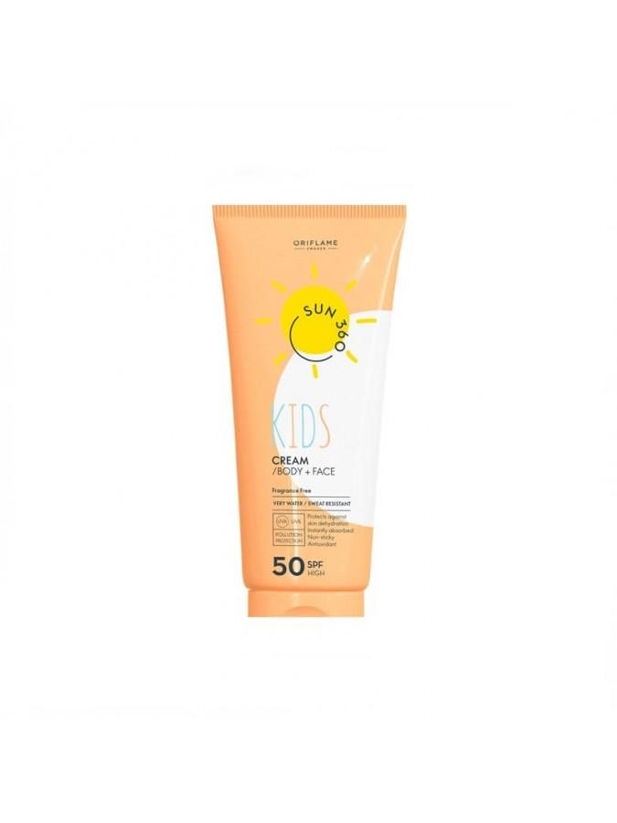 Παιδική αντηλιακή Κρέμα για το Πρόσωπο + το Σώμα με SPF 50 Sun 360