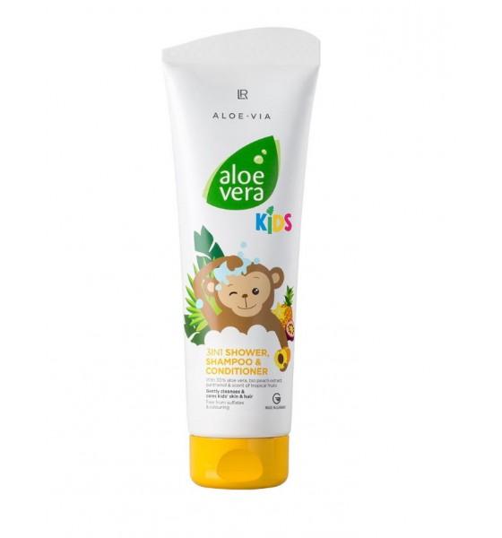 Aloe Vera Kids 3 Σε 1 Αφρόλουτρο, Σαμπουάν & Conditioner