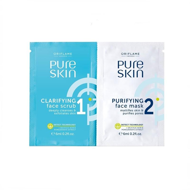 Εξυγιαντικό Προϊόν Απολέπισης και Μάσκα Προσώπου Pure Skin